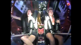 Girl Gets Too Excited On Sling Shot Ride
