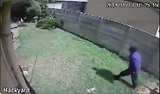 Burglar scared off by menacing and vicious guard dog