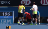 Ball kid hit in the balls - Australian Open 2015