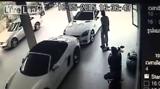 Man caught on CCTV having sex with a Porsche