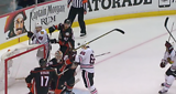 Andrew Shaw Headbutt No Goal 2015 - Game 2 WCF Chicago Vs Anaheim May 19th 2015
