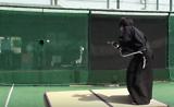 Samurai slices 100 mph baseball in two halfs