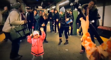 Little Girl starts a dance party to Me and My Uncle in NYC